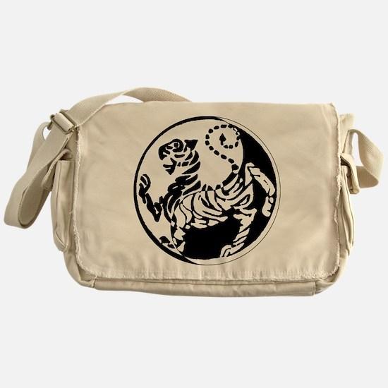 Yin Yang Shotokan Tiger Messenger Bag
