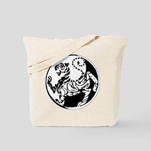 Yin Yang Shotokan Tiger Tote Bag