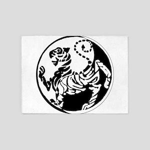 Yin Yang Shotokan Tiger 5'x7'Area Rug