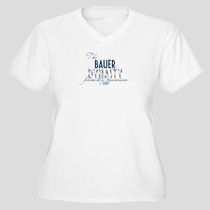 BAUER dynasty Women's Plus Size V-Neck T-Shirt