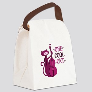 One Cool Cat Canvas Lunch Bag