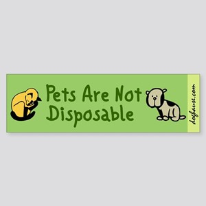 Not Disposable Green Bumper Sticker