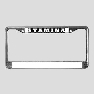 STAMINA Zine License Plate Frame