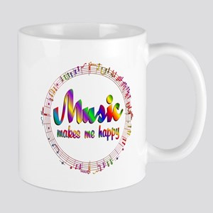 Music Makes Me Happy Mugs
