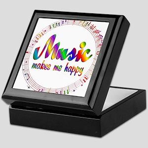 Music Makes Me Happy Keepsake Box