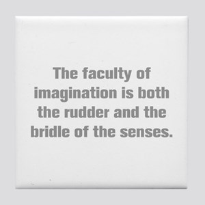 The faculty of imagination is both the rudder and