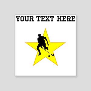 Field Hockey Player Silhouette Star (Custom) Stick