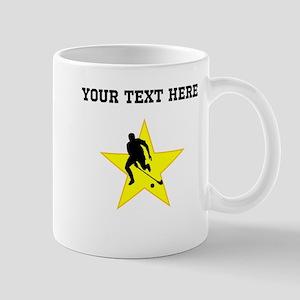 Field Hockey Player Silhouette Star (Custom) Mugs