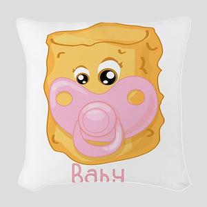 Tater Tot Baby Woven Throw Pillow