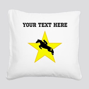 Equestrian Horse Silhouette Star (Custom) Square C