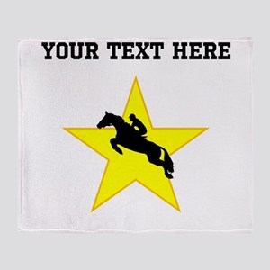 Equestrian Horse Silhouette Star (Custom) Throw Bl