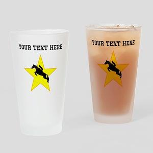 Equestrian Horse Silhouette Star (Custom) Drinking
