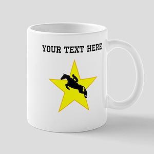 Equestrian Horse Silhouette Star (Custom) Mugs