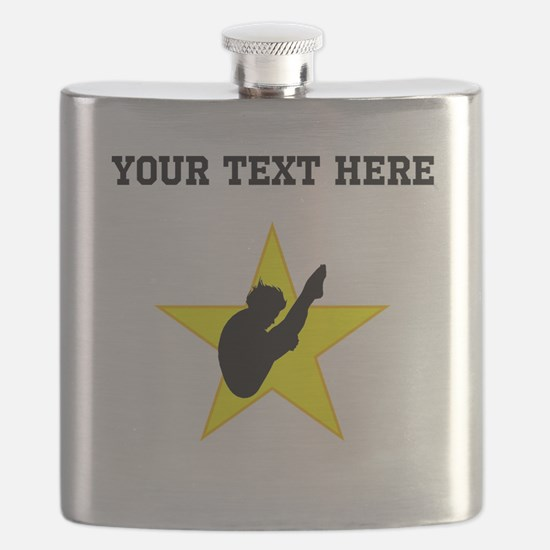 Diver Silhouette Star (Custom) Flask