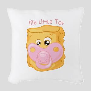 My Little Tot Woven Throw Pillow