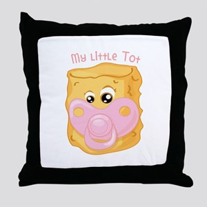 My Little Tot Throw Pillow