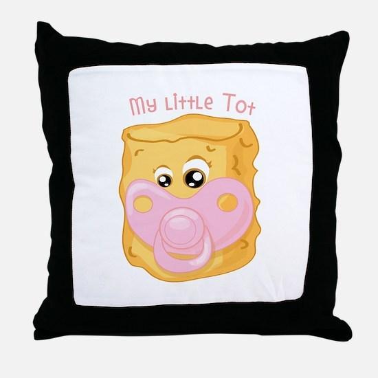 My Little Tot Throw Pillow