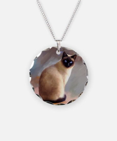 Cat 613 siamese Necklace