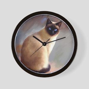 Cat 613 siamese Wall Clock