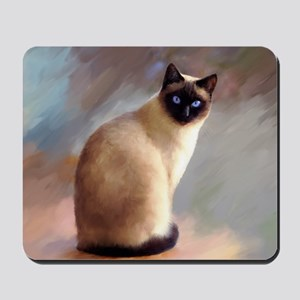 Cat 613 siamese Mousepad