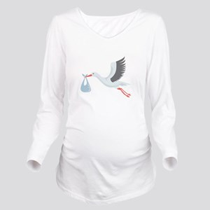 Stork The Delivery Long Sleeve Maternity T-Shirt