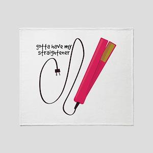 Straightener Throw Blanket