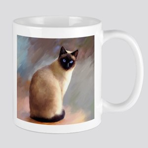 Cat 613 siamese Mugs
