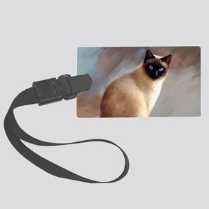 Cat 613 siamese Large Luggage Tag