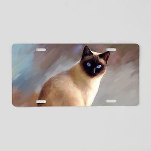 Cat 613 siamese Aluminum License Plate
