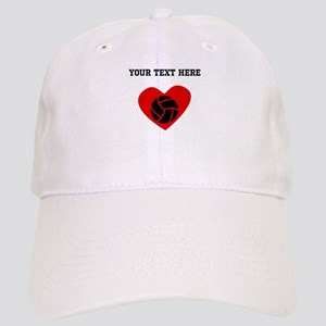 Volleyball Heart (Custom) Baseball Cap