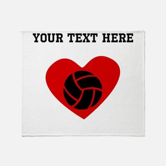 Volleyball Heart (Custom) Throw Blanket