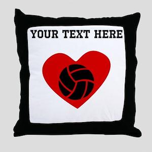 Volleyball Heart (Custom) Throw Pillow