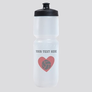 Volleyball Heart (Custom) Sports Bottle