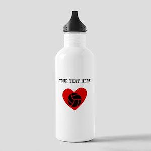 Volleyball Heart (Custom) Water Bottle