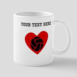 Volleyball Heart (Custom) Mugs