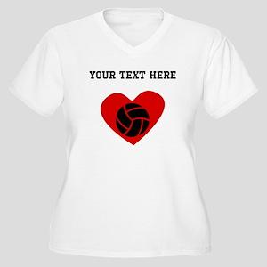 Volleyball Heart (Custom) Plus Size T-Shirt