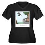Big Dogs vs. Women's Plus Size V-Neck Dark T-Shirt