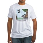 Big Dogs vs. Small Dogs Fitted T-Shirt