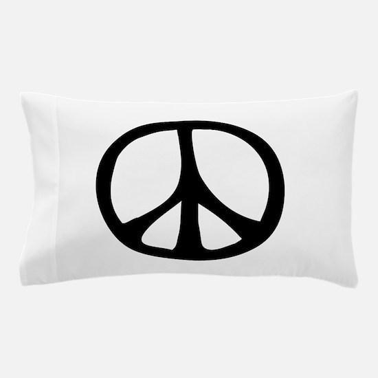 IrregularPeaceSignBW.png Pillow Case