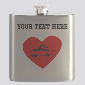 Swimmer Heart (Custom) Flask