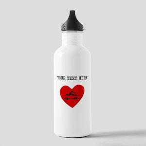 Swimmer Heart (Custom) Water Bottle