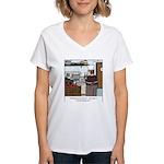 Lobster Hot Tub Women's V-Neck T-Shirt