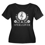 Opera Lo Women's Plus Size Scoop Neck Dark T-Shirt