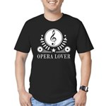 Opera Lover Music Men's Fitted T-Shirt (dark)