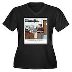 Lobster Hot Women's Plus Size V-Neck Dark T-Shirt