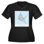 remora Women's Plus Size V-Neck Dark T-Shirt