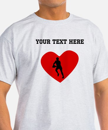 Rugby Player Heart (Custom) T-Shirt