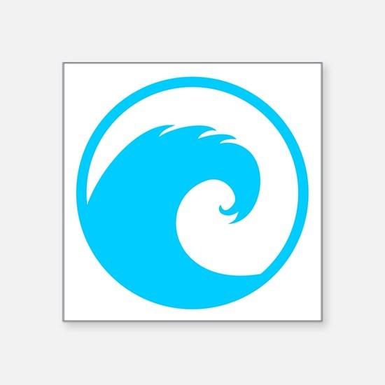 """Unique Surfing Square Sticker 3"""" x 3"""""""