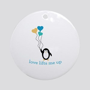 Love Lifts Me Ornament (Round)