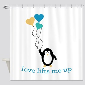 Love Lifts Me Shower Curtain